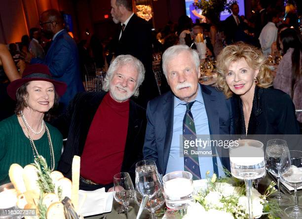 Rose Lane Leavell Honoree Chuck Leavell Ted Turner and Girl Friend Sally Rainey attend 2019 Captain Planet Foundation Gala at Flourish Atlanta on...