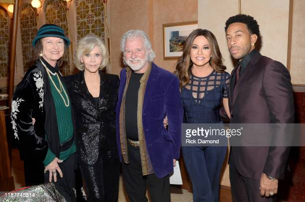 Rose Lane Leavell Jane Fonda Chuck Leavell Robin Meade and Ludacris attend GCAPP Empower Party to Benefit Georgia's Youth at The Fox Theatre on...