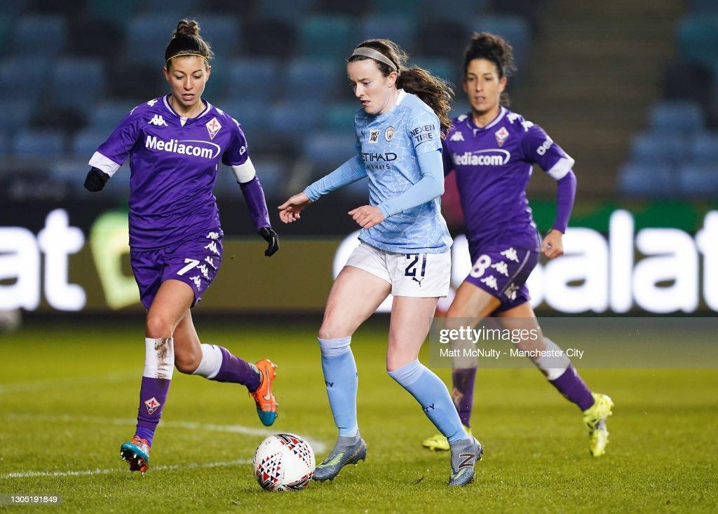 Manchester City WFC v ACF Fiorentina  - Women's UEFA Champions League Round Of 16 Leg One : News Photo