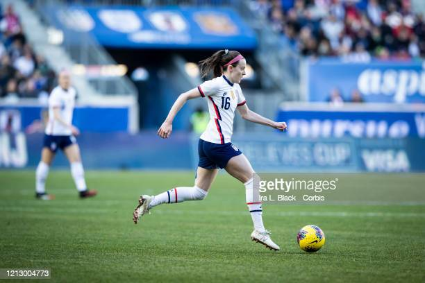 Rose Lavelle of the United States breaks away during the 1st half of the 2020 SheBelieves Cup match between United States and Spain sponsored by...