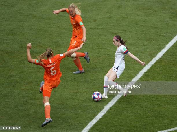 Rose Lavelle of the USA scores her team's second goal during the 2019 FIFA Women's World Cup France Final match between The United States of America...