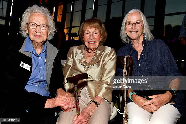 Rose Lee Maphis Jo WalkerMeador and Bonnie Garner attend the debut of the 'Alabama Song of the South' exhibition at Country Music Hall of Fame and...