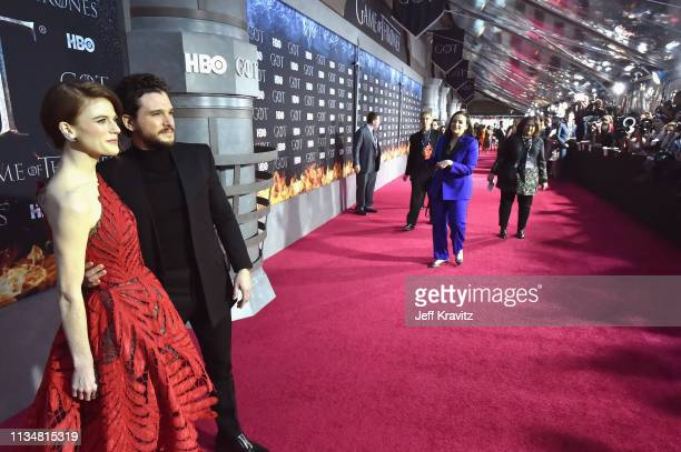 Rose Leslie and Kit Harington attend the Game Of Thrones Season 8 NY Premiere on April 3 2019 in New York City