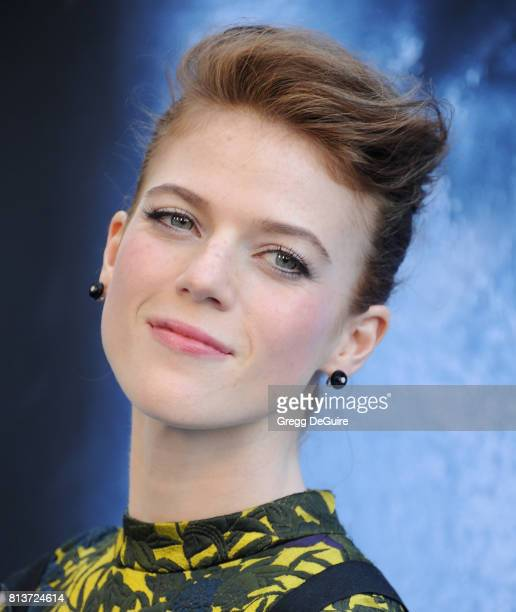 Rose Leslie arrives at the premiere of HBO's 'Game Of Thrones' Season 7 at Walt Disney Concert Hall on July 12 2017 in Los Angeles California