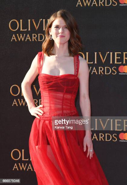 Rose Leslie arrives for The Olivier Awards 2017 at the Royal Albert Hall on April 9 2017 in London England