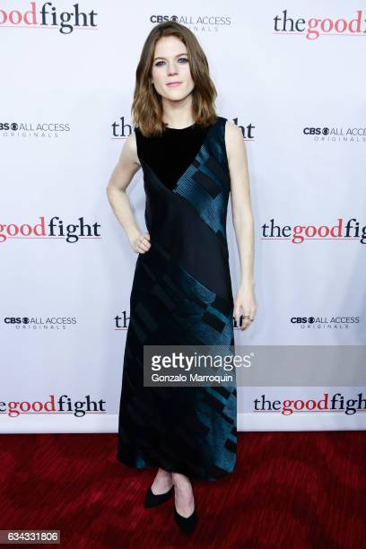 Rose Leslie at the 'The Good Fight' World Premiere at Jazz at Lincoln Center on February 8 2017 in New York City