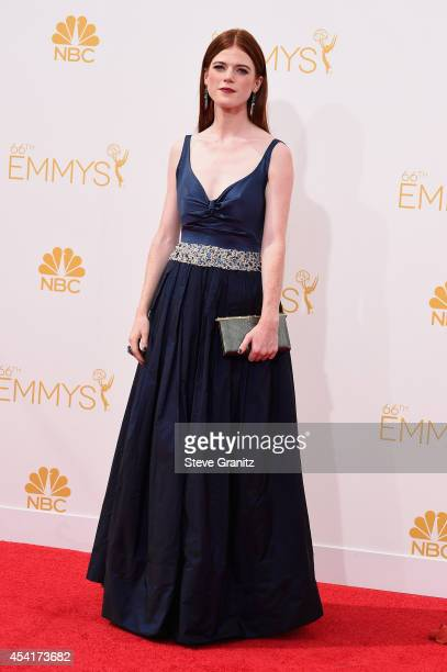 Rose Leslie attends the 66th Annual Primetime Emmy Awards held at Nokia Theatre LA Live on August 25 2014 in Los Angeles California