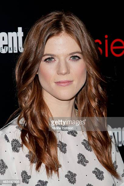 Rose Leslie attends the Entertainment Weekly SAG Awards preparty at Chateau Marmont on January 17 2014 in Los Angeles California