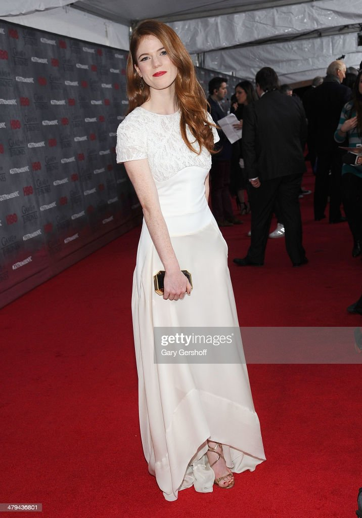 Rose Leslie attends the 'Game Of Thrones' Season 4 premiere at Avery Fisher Hall, Lincoln Center on March 18, 2014 in New York City.