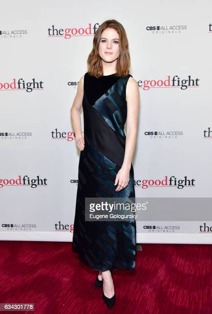 Rose Leslie attends 'The Good Fight' world premiere at Jazz at Lincoln Center on February 8 2017 in New York City