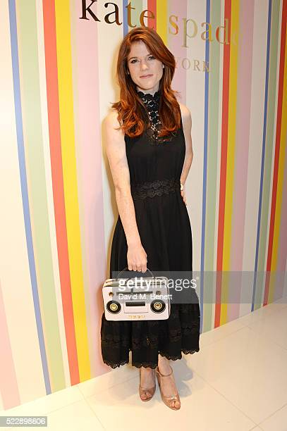 Rose Leslie attends the Kate Spade New York Regent Street store opening on April 21 2016 in London England