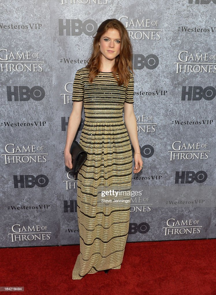 Rose Leslie attends the Season 3 Premiere of HBO's 'Game Of Thrones' at Palace Of Fine Arts Theater on March 20, 2013 in San Francisco, California.