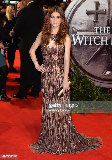 Rose Leslie attends the UK Premiere of 'The Last Witch Hunter' at Empire Leicester Square on October 19 2015 in London England