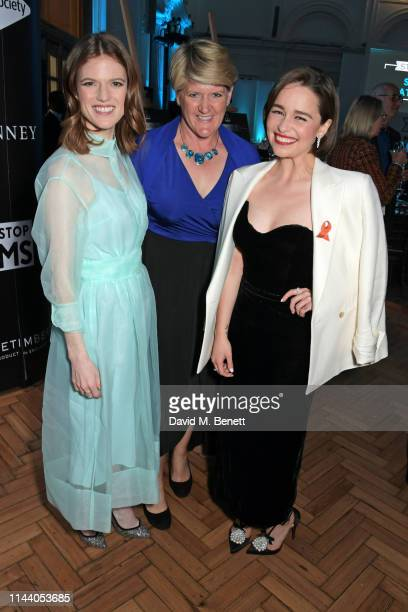 Rose Leslie Clare Balding and Emilia Clarke attend the SMS Battles Quiz for The MS Society raising vital funds for Multiple Sclerosis research at the...