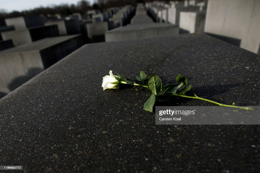 Berlin Commemorates The Victims Of The Holocaust On The 75th Anniversary Of The Liberation Of Auschwitz : News Photo