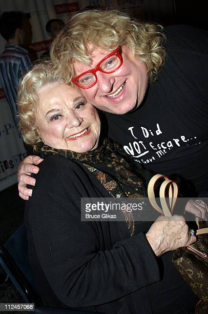 Rose Marie and Bruce Vilanch during 'Hairspray' Opening Night Los Angeles After Party at Henry Fonda Theatre in Hollywood California United States