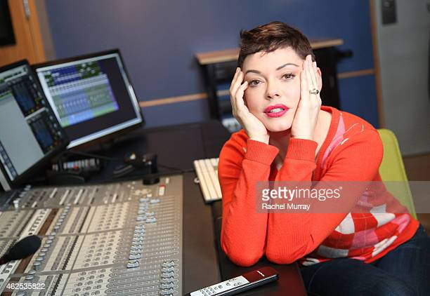 Rose McGowan at a voice over recording session for Call of Duty Advanced Warfares 'Exo Zombies' mode part of the Havoc DLC pack on December 17 2014...