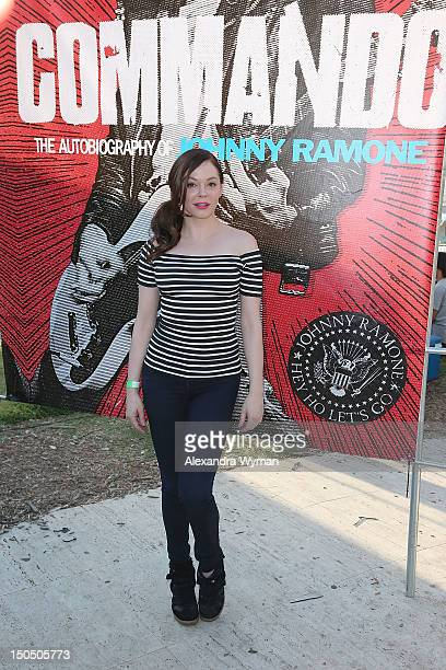 Rose McGowan at The 8th Annual Johnny Ramone Tribute held at The Hollywood Forever Cemetery on August 19 2012 in Hollywood California