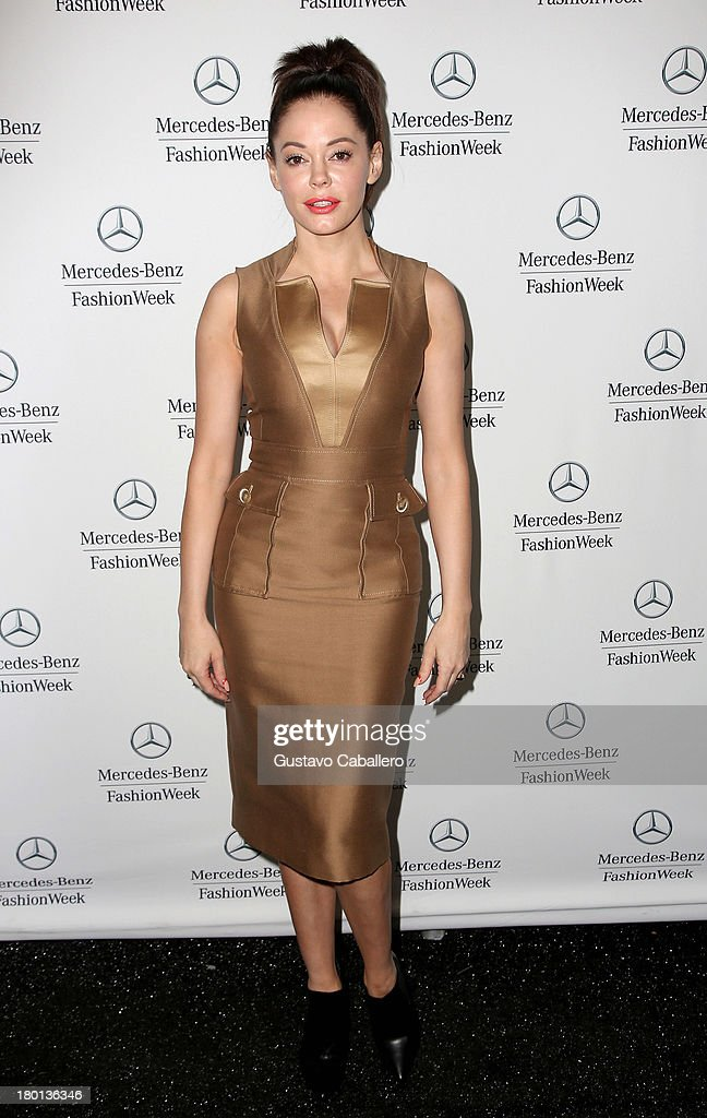 Rose McGowan attends Day 5 of Mercedes-Benz Fashion Week Spring 2014 at Lincoln Center for the Performing Arts on September 9, 2013 in New York City.