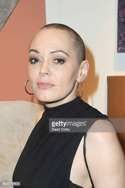 Rose McGowan attends Sexy Beast for Planned Parenthood LA at The Theatre At The Ace Hotel on September 10 2016 in Los Angeles California