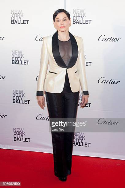 """Rose McGowan attends the """"2015 New York City Ballet Fall Gala"""" at the David H. Koch Theater at Lincoln Center in New York City. �� LAN"""