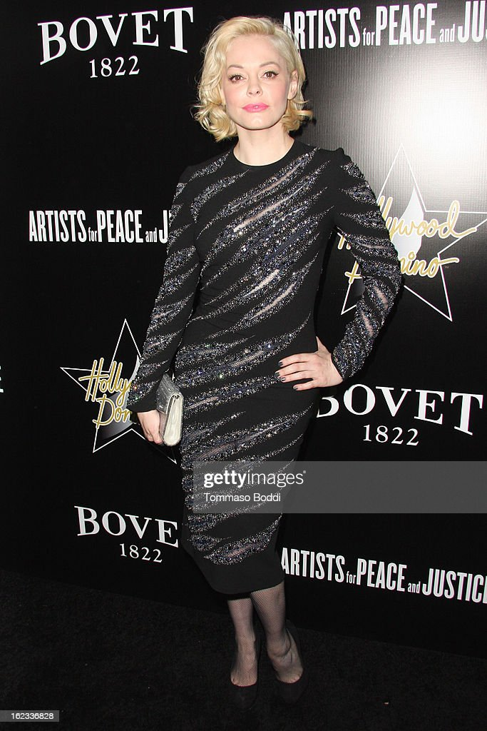 Rose McGowan attends the 6th annual Hollywood Domino Gala & Tournament held at teh Sunset Tower on February 21, 2013 in West Hollywood, California.