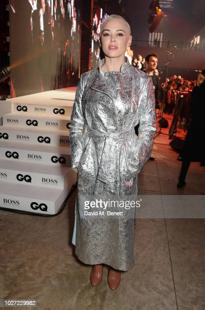 Rose McGowan attends the GQ Men of the Year Awards 2018 in association with HUGO BOSS at Tate Modern on September 5 2018 in London England
