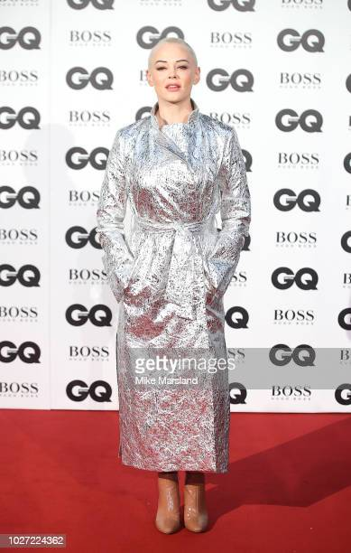 Rose McGowan attends the GQ Men of the Year awards at Tate Modern on September 5 2018 in London England