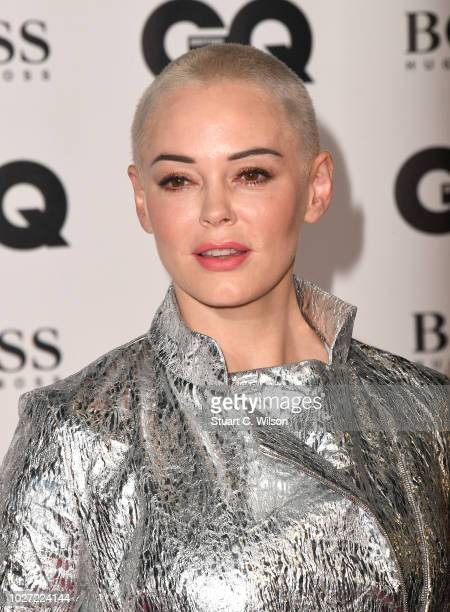Rose McGowan attends the GQ Men of the Year awards at the Tate Modern on September 5, 2018 in London, England.