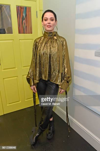 Rose McGowan attends the House Of Osman launch party supported by Peroni Ambra on April 25 2018 in London England