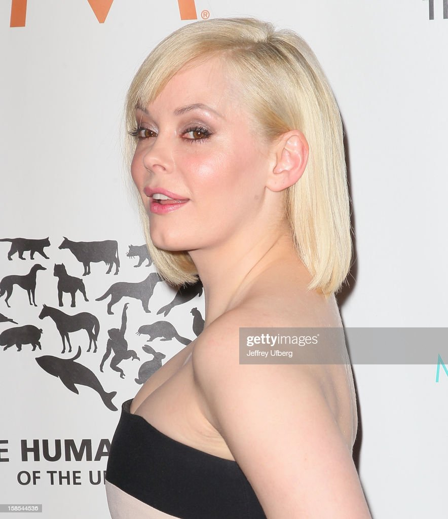 Rose McGowan attends The Humane Society of the United States presents To The Rescue! gala benefiting post hurricane Sandy efforts at Cipriani 42nd Street on December 18, 2012 in New York City.