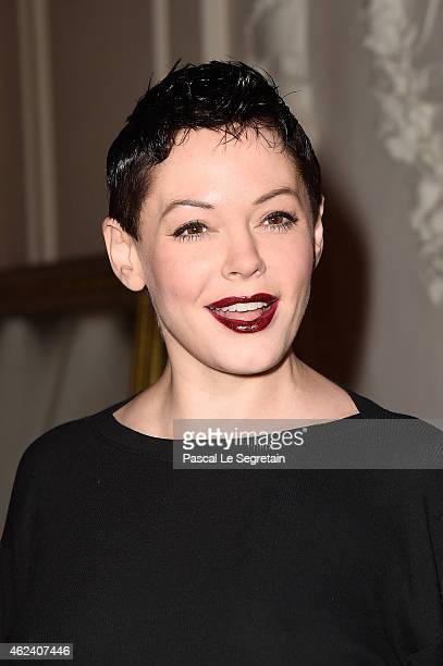 Rose McGowan attends the Jean Paul Gaultier show as part of Paris Fashion Week Haute Couture Spring/Summer 2015 on January 28 2015 in Paris France