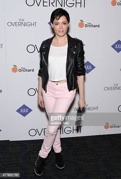 Rose McGowan attends 'The Overnight' New York Premiere at Sunshine Landmark on June 18 2015 in New York City