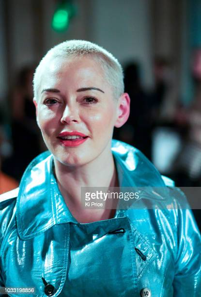 Rose McGowan attends the Pam Hogg Show during London Fashion Week September 2018 at Freemasons Hall on September 14 2018 in London England