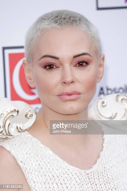 Rose McGowan attends the Q Awards 2019 at The Roundhouse on October 16, 2019 in London, England.