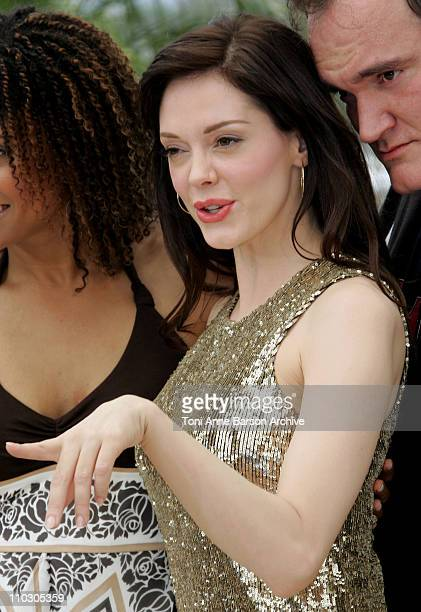 Rose McGowan during 2007 Cannes Film Festival Death Proof Photocall at Palais des Festival in Cannes France