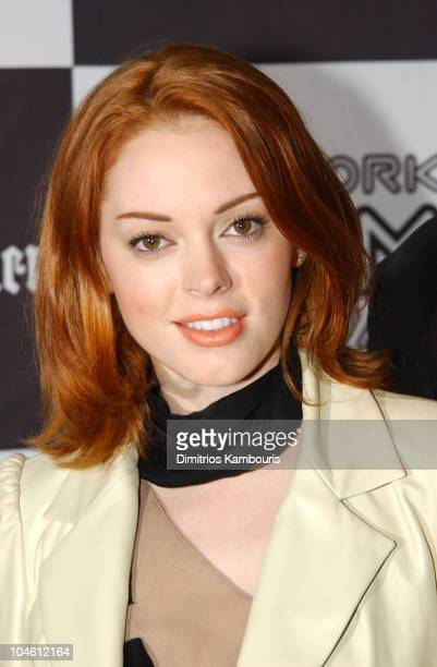 Rose McGowan during Closing Night of 40th New York Film Festival 'Talk to Her' US Premiere at Avery Fisher Hall Lincoln Center in New York New York...