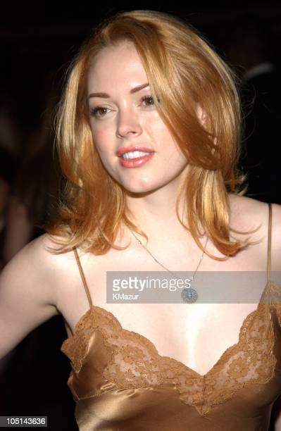 Rose McGowan during 'Legally Blonde 2 Red White Blonde' Premiere New York City After Party at Christie's in New York City New York United States