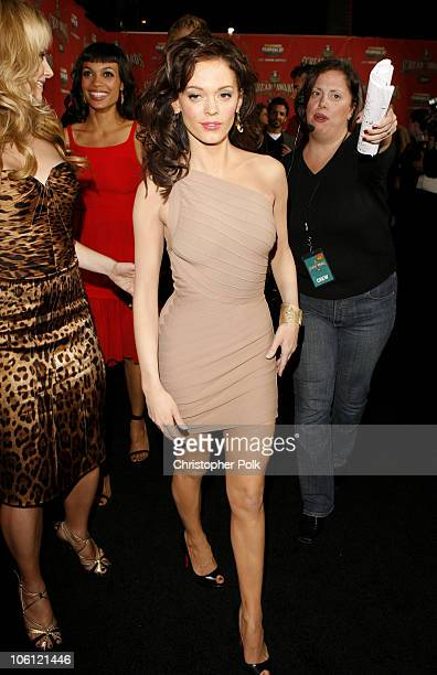 Rose McGowan during Spike TV's 'Scream Awards 2006' Red Carpet at Pantages Theater in Hollywood California United States