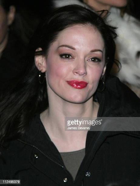 Rose McGowan during The Rolling Stones in Concert at the Beacon Theatre Outside Arrivals at Beacon Theatre in New York City New York United States