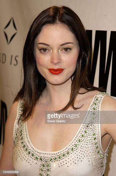 Rose McGowan during Women's Wear Daily The Ultimate Fashion Authority Hosted 'White Hot Diamonds' The Exclusive PreOscar Fashion Event Where...