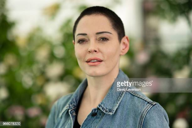 Rose McGowan filmmaker and author of 'Brave' at the Hay Festival on June 2 2018 in HayonWye Wales