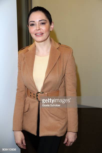 Rose McGowan is awarded with the DLD Impact Award by DLD Munich 2018 at Alte Bayerische Staatsbank on January 21 2018 in Munich Germany The DLD...