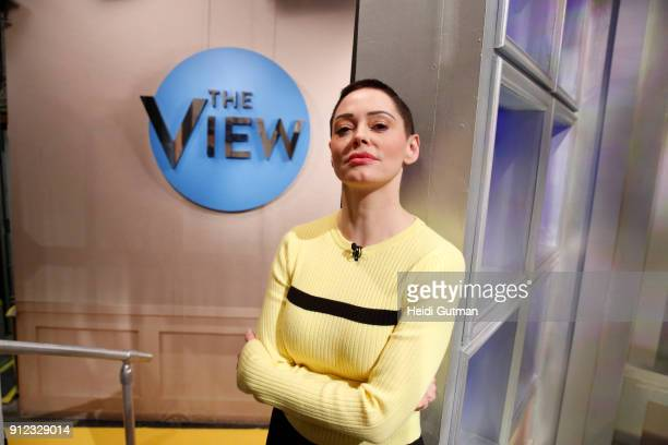 THE VIEW Rose McGowan is the guest today Tuesday January 30 2018 on ABC's 'The View' 'The View' airs MondayFriday on the ABC Television Network...