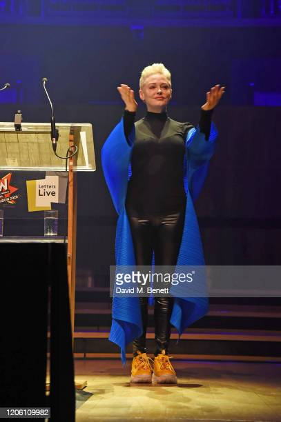 Rose McGowan performs during Letters Live at WOW Women Of The World Festival at Southbank Centre on March 8, 2020 in London, England.