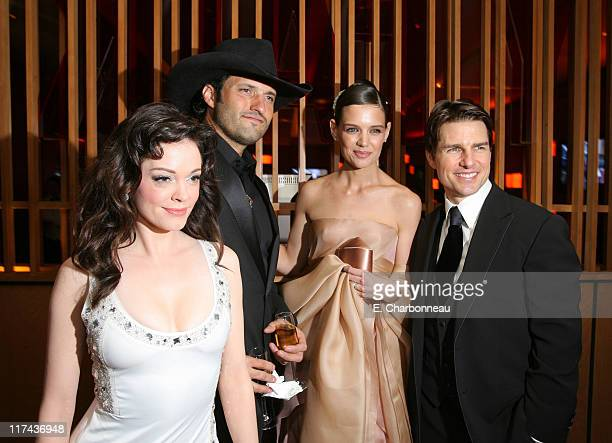 Rose McGowan, Robert Rodriguez, Katie Holmes and Tom Cruise