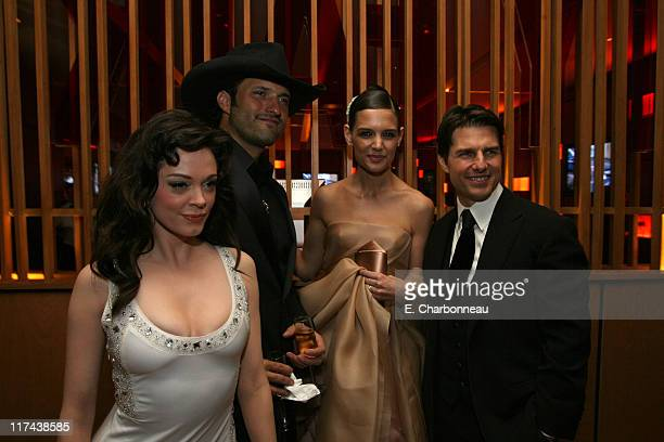 Rose McGowan Robert Rodriguez Katie Holmes and Tom Cruise