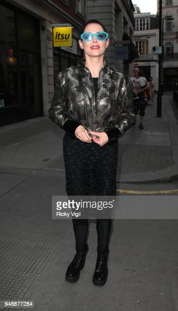 Rose McGowan seen attending Joseph Corre Ash From Chaos at Lazinc on April 19 2018 in London England