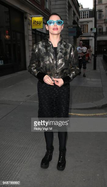 Rose McGowan seen attending Joseph Corre: Ash From Chaos - private view at Lazinc on April 19, 2018 in London, England.