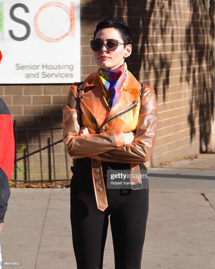 Rose McGowan surfaced in Manhattan on Halloween amid reports of avoiding months-old arrest warrant in Virginia.